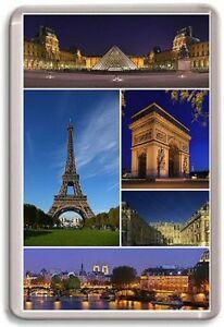 Paris France Fridge Magnet 01