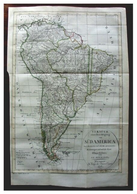 1803 - MAP OF SOUTH AMERICA - FALKLAND ISLANDS - DE