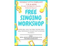Free Singing Workshop in Hove - Monday 27th February
