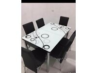 NEW EXTENDABLE❤IMPORTED TURKISH DINING TABLES⚡WITH 4/6 CHAIRS✌✌FAST DELIVERY🎁🎁