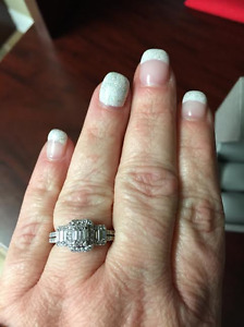 Beautiful Engagement Ring and Band