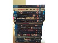 90 Blu Rays all in excellent condition with some classics and many new releases