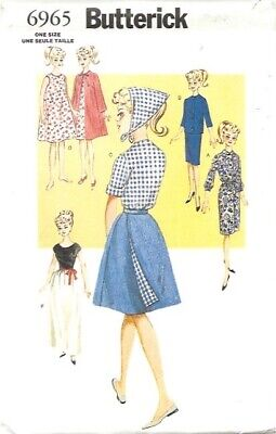 Butterick 6965 Reproduction Barbie Clothes Pattern/NIP/Uncut
