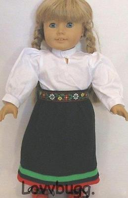 """Lovvbugg Swedish Winter Dress for 18"""" American Girl Doll Kirsten"""