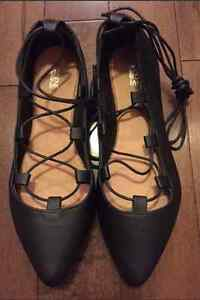 Ardenes Lace up Flats Size 8 NEW
