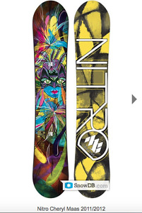 Nitro CherylMass snowboard 2011/ 2012 women & bindings Union