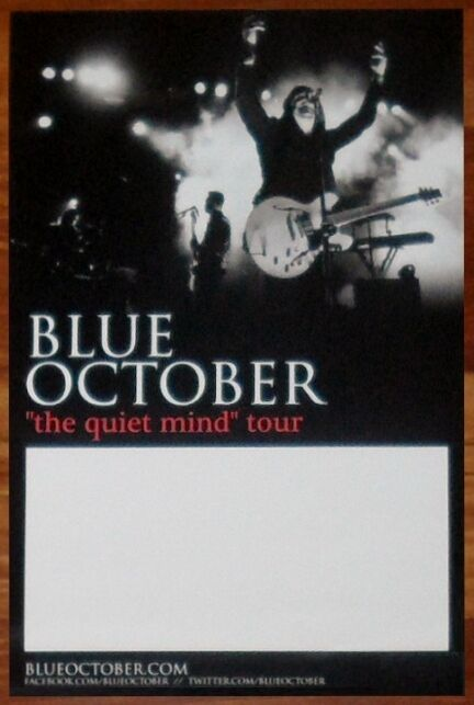 BLUE OCTOBER Any Man In America Quiet The Mind Tour Ltd Ed New RARE Poster! Home