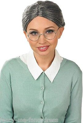 Ladies Granny Grandma Grey Old Lady Hen Do Fancy Dress Costume Outfit - Old Lady Outfit