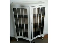 Painted wood and glass cabinet