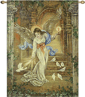 - Angel of Light ~ Angels & Doves Tapestry Wall Hanging ~ Artist, Lena Liu