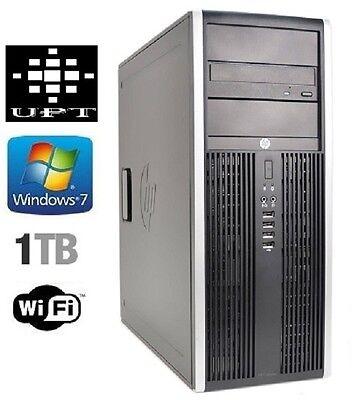 hp 8000 Elite Tower Windows 7 1TB Intel Core 2 Duo 3GHz 8GB DVD/RW WiFi Ready