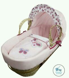 Kinder valley butterfly moses basket. Pink. Brand new in sealed packs. 2 left only.