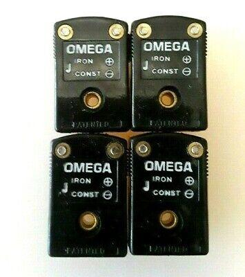 4 Pcs Lot - Omega Mini J Iron Thermocouple Probe Female Connector