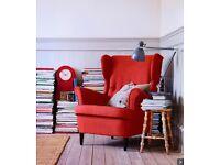 Ikea orange armchair