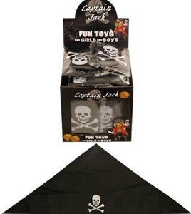 kids PIRATE HATs BANDANA black crossbones skull Funcy Dress party costumea 1