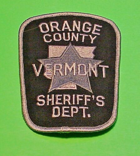 """ORANGE COUNTY  VERMONT  VT  SUBDUED  4 1/4""""  SHERIFF / POLICE PATCH"""