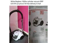 White Bagless 1000w cylinder vacuum free delivery in hull