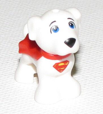 Lego Neu Weiß Welpe Tier Superman Hund mit Roten Kap