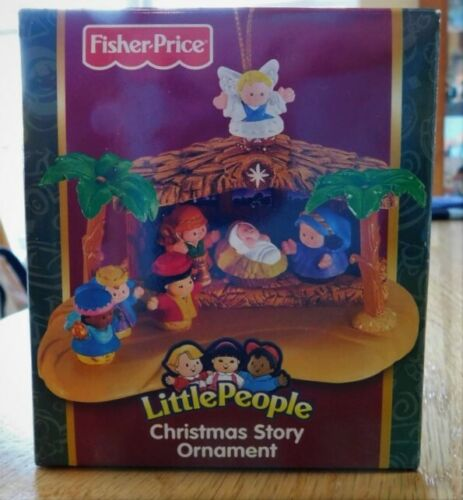 New Rare 2006 FISHER-PRICE~Christmas Story Little People Ornament~Nativity~HTF
