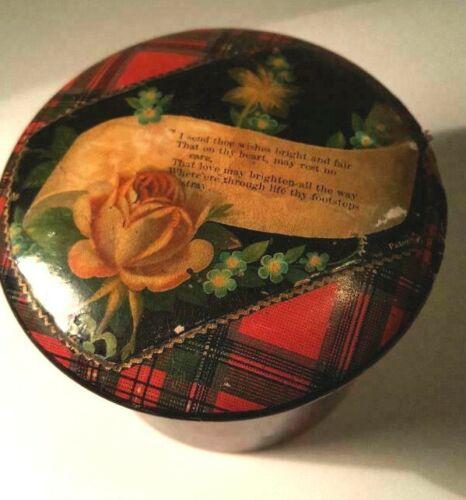 "Tartanware Box: Beautiful, Loving Message ~ Stuart Plaid ""Bonnie Prince Charlie"""