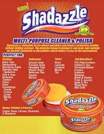 New Shadazzle Natural Cleaner and Polish and applicator sponge