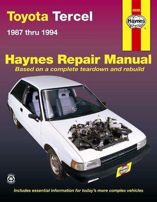 1987 - 1994 Toyota Tercel Haynes Service Repair Workshop Maintenance Manual 1065