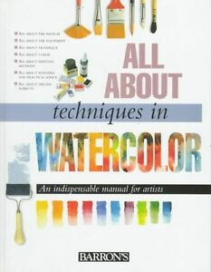 All About Techniques in Watercolor, New,  Book