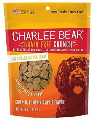 Charlee Bear Crunch Grain Free Dog Treats Chicken, Pumpkin & Apple flavor 8 oz Apple Flavored Dog Treats