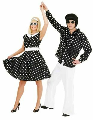 Polka Dot Rockabilly Kleid in schwarzweiß Rock'n'Roll Karneval Fasching  (Schwarz Polka Dot Kleid Kostüm)