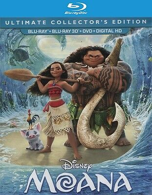 Moana  3D Blu Ray Disc Only  2017