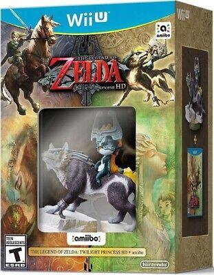 New Nintendo Wii U The Legend of Zelda: Twilight Princess HD + Wolf Link Amiibo comprar usado  Enviando para Brazil