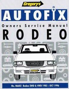 Holden Rodeo 2WD and 4WD Petrol 1985 - 1996 Autofix Repair Manual Blacktown Blacktown Area Preview