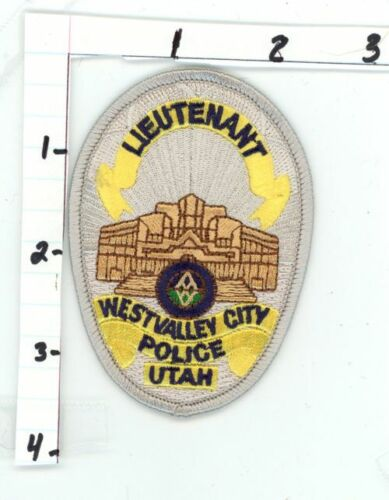 WEST VALLEY CITY POLICE LIEUTENANT UTAH UT NEW COLORFUL PATCH SHERIFF