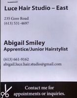 Hair appointments available!!