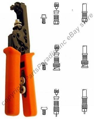 Compression Rg659 Crimpercrimping Tool For Waterproof Bncrcatv F Crimp Ends