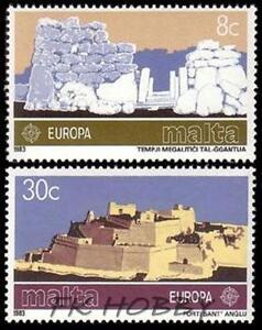 Malta 1983 Mi 680-81 ** Union Europa Cept Fort St Angelo - <span itemprop=availableAtOrFrom> Dabrowa, Polska</span> - Malta 1983 Mi 680-81 ** Union Europa Cept Fort St Angelo -  Dabrowa, Polska