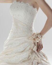Ellis bridal, princess and the frog wedding dress in Ivory