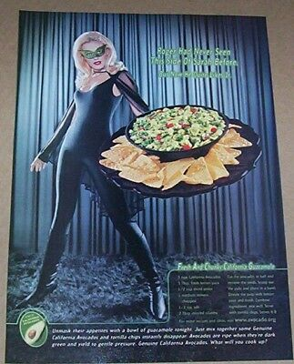 2002 Print Ad   California Avocados Sexy Girl Fresh Chunky Guacamole Recipe Page
