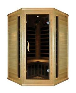 Blackstone Far infrared corner two person saunas on sale $2099.99, was $2999