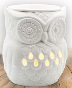 Airpure THE OWL Electric Wax Melt Oil Melter Burner with Backlight - White