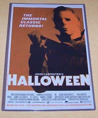 Halloween 11X17 Movie Poster Theatre Reissue Version Michael Myers