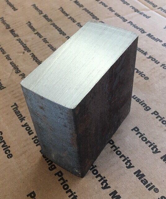 "2 X 4 X 4"" Steel Bar THICK BLOCK Target Plate Blacksmith Bench Hammer Plate"