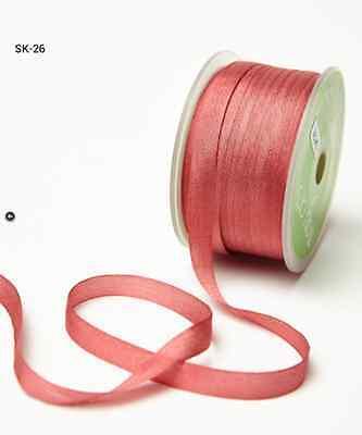 (1/4 Inch Silk Ribbon - MAY ARTS - SK26 - Rose - 5 yards)