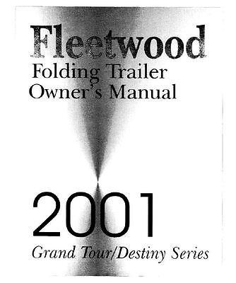 COLEMAN Popup Trailer Owner Manual 2001 Destiny Taos Sedona Fairview
