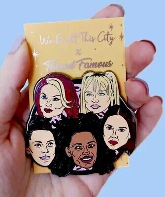 Spice Girls Pin Badge, Posh, Scary, Sporty, Baby & Ginger, Wannabe, 2 Become (Baby Spice Wannabe)