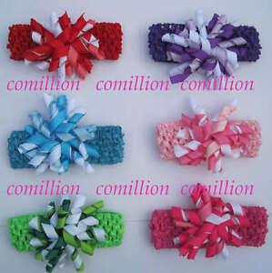 6-Crochet-Headband-with-Korker-hair-bow-clips-baby-girl