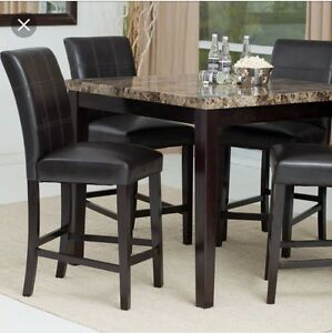 Brand new Faux marble top Dining Room table