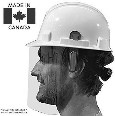 Reusable Face Shield Wrap For Use With Work Helmet Or Hard Hat