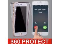 360 Shockproof Clear Jel Silicone ProtectivE Front & Back Case Cover For Iphone 6/6s Joblot Bulk