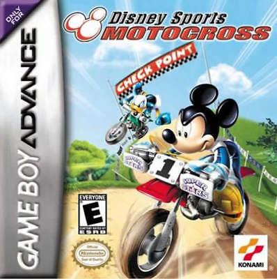 Nintendo Disney Sports Motocross Check Point Gba Game Boy...